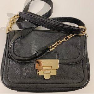 Michael Kors Crossbody Purse Bag Black & Gold